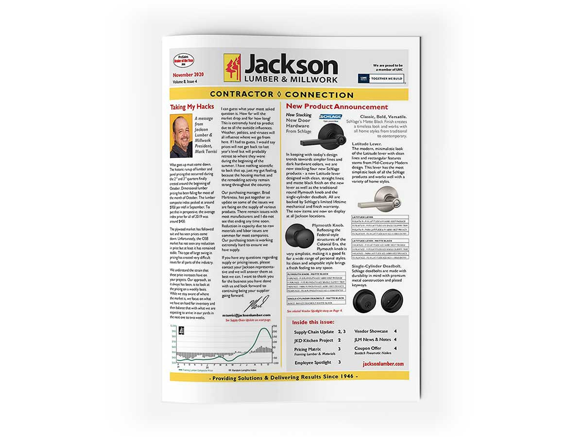 Jackson Lumber Newsletters - Learn About New Products & Events