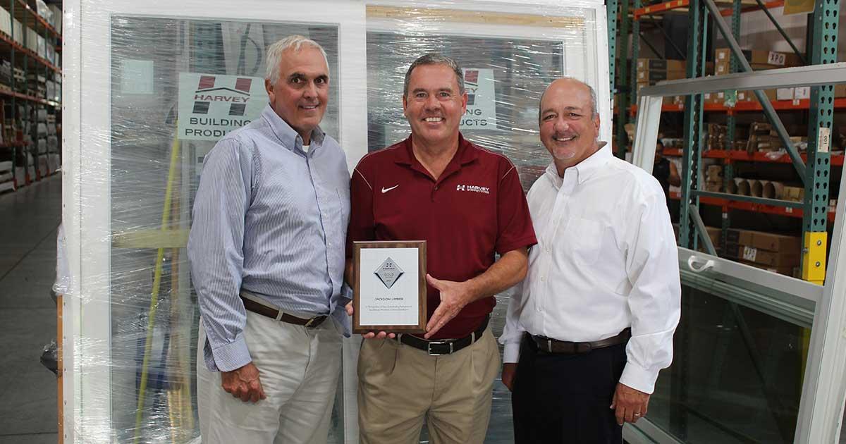 Harvey Windows & Doors Recognizes Jackson Lumber & Millwork with Gold Dealer Award